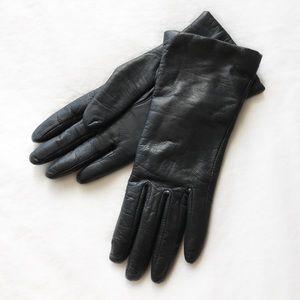 Vintage Genuine Leather Cashmere Lined Gloves