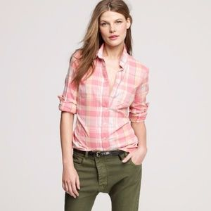J. Crew Pink The Perfect Shirt Button Down