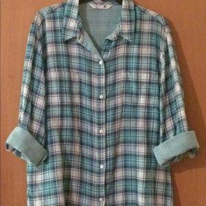 Riders by Lee Long sleeve, plaid shirt. XXL