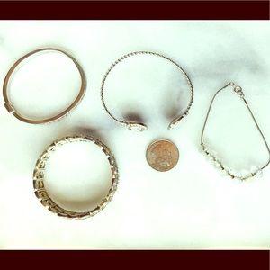 Bling Silver Bracelet Bundle