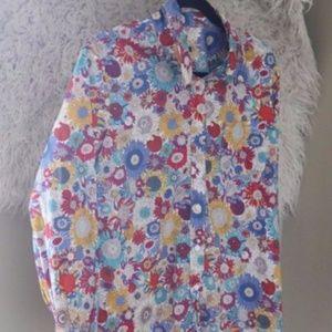 Liberty of London Art Fabrics Floral Blouse Button