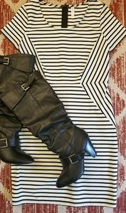 Xhilaration Black/White Dress