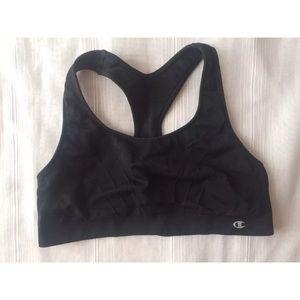 Champion sports bra black size medium logo top