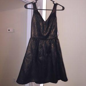 Bar III Black Metallic Dress