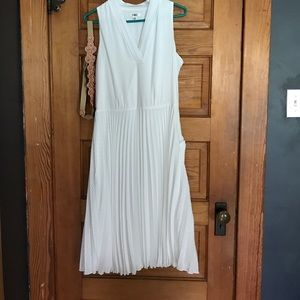White dress with belt