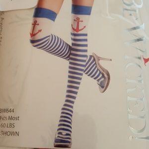 Anchor Thigh High Stockings