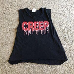 Creep Halloween tank