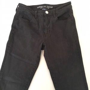Black American Eagle high waisted jeans