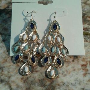 Jewelry - Gold Peacock Earrings