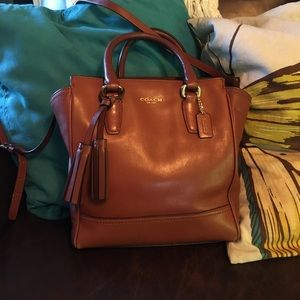 Coach tan Tanner purse