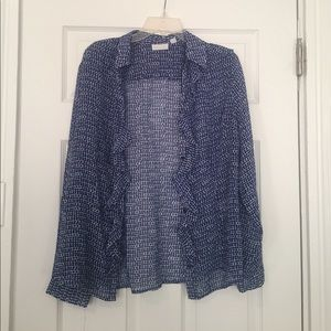 New York and Co Sheer, Long-Sleeve Blouse
