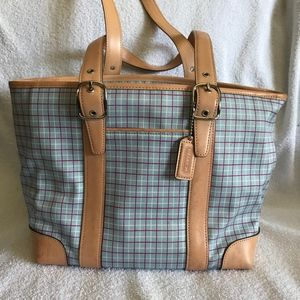 Vintage Coach Multicolor Satchel Handbag