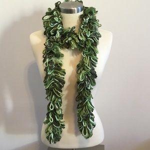 Green loop scarf