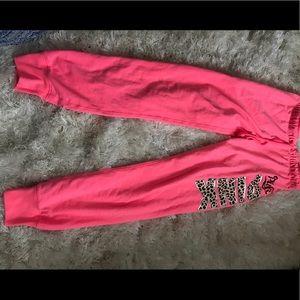 Victoria's Secret pink jogger pants