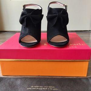 Kate Spade New York suede bow heels