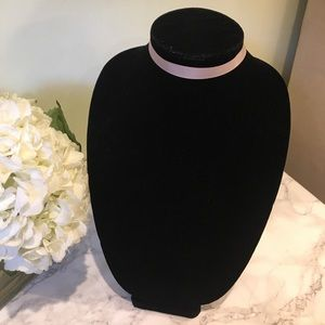 ASOS Satin Ribbed Tan Choker Necklace