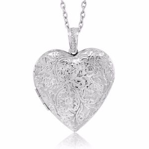 New Heart Locket Pendant Necklace and Chain