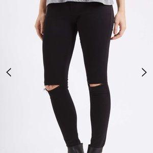 Top shop motto Leigh w/35  l30 black jeans