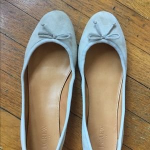 J Crew light gray suede ballet flats, 9