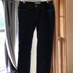 Levi's denim leggings in dark navy