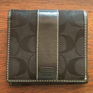 Black Coach signature wallet