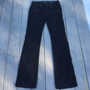 7 For All Mankind Bootcut Black Jeans 29