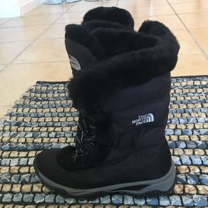 The north face boots black snow boots