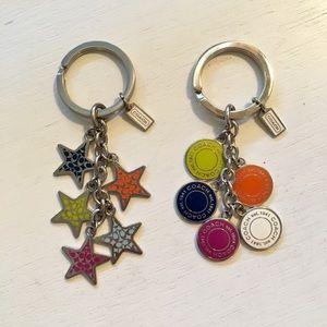Coach Key Chain Bundle - Colorful Stars & Circles