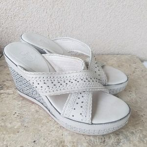 Frye Cream Leather Sandals Size 9