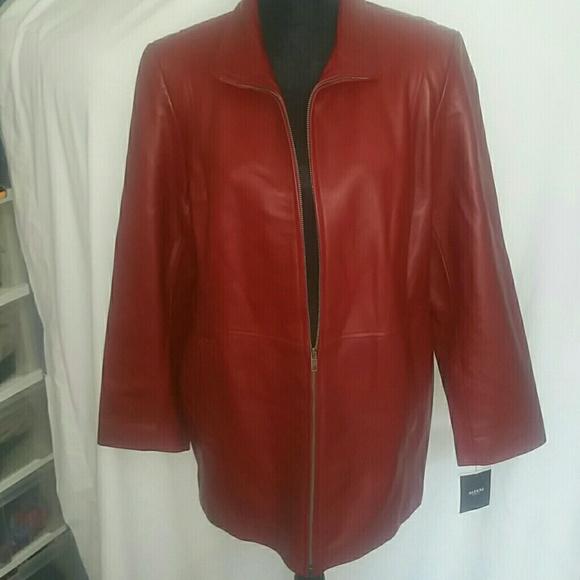 74ce0dc9f6c Alfani Rouge Plus Size Leather Coat