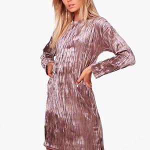 Dresses & Skirts - 🆕 Nude Velvet Mini Dress Tunic Plus Size