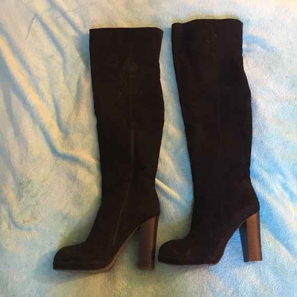 62f5e44185c JustFab Shoes - Thigh High velvet boots
