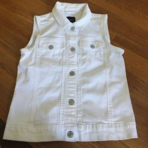 White jean vest. EUC! Barely worn!