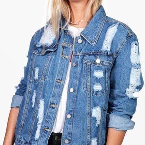 Jackets & Blazers - 🆕 Plus Size Oversized Distressed Denim Jacket