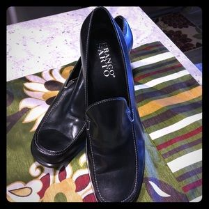 Franco Sarto classic black leather timeless loafer