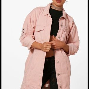 Jackets & Blazers - 🆕 Oversized Distressed Nude Denim Jacket