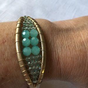 Jewelry - Cuff Bracelet Gold Wire Beads