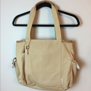 Fossil canvas Computer Book bag Tote