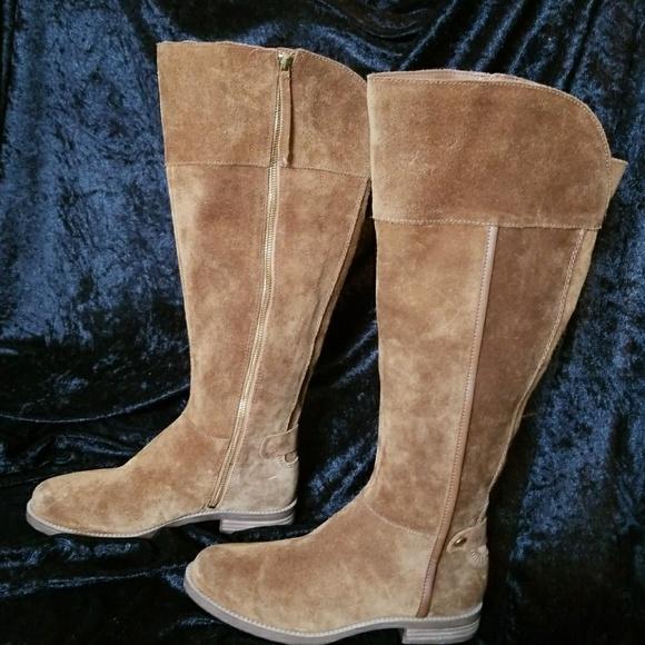 7c1cd8fb4ac7 Franco Sarto Shoes - Franco Sarto Caydee Brown Wide Calf Boots