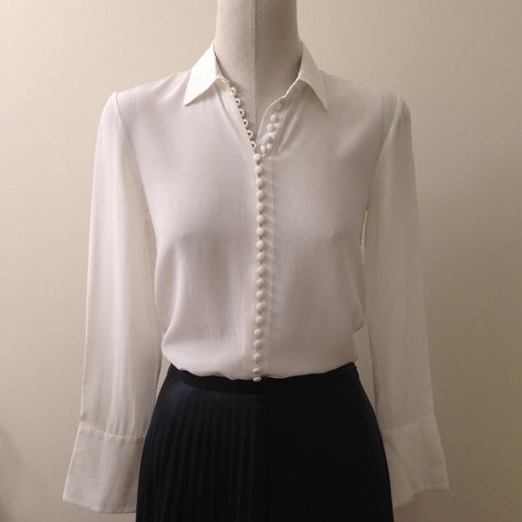 27e89b2c106e8e Club Monaco Tops - Club Monaco Helek Silk Shirt