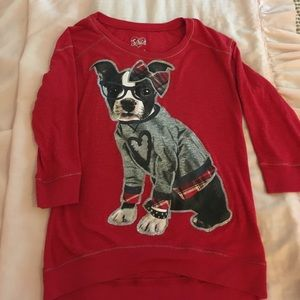 Cute Justice top with dog 🐶 size 8