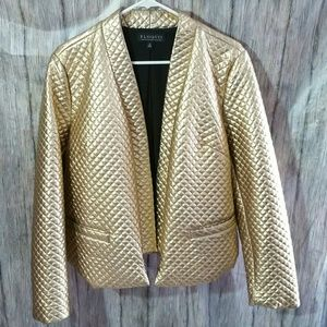Eloquii Gold Quilted Jacket