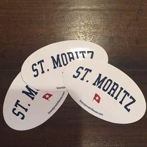 3 st. moritz stickers!