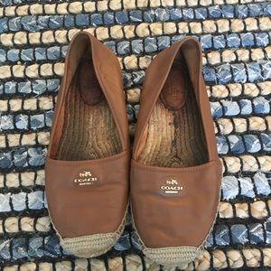 Coach flats leather espadrilles