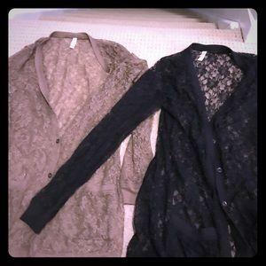 2 xhilaration lace cardigans! Never worn!