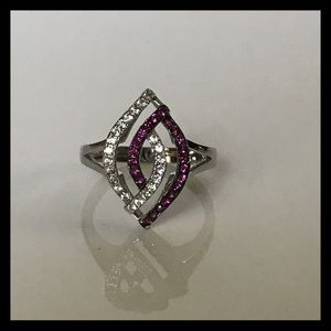 Pink & White Sapphire Ring