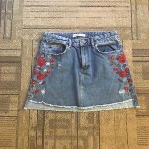 NWOT Zara Denim Skirt