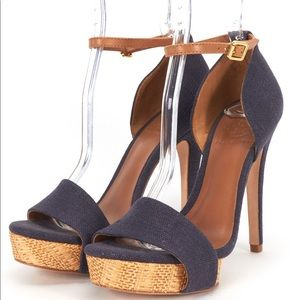 Tory Birch Amina Denim Heel Sandal