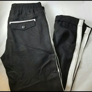 Michael Stars Black White Striped Tuxedo Pants M