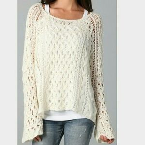 Free People Pegasus Crochet Knitted Sweater Large